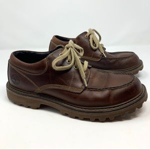 TIMBERLAND MENS BROWN LEATHER OXFORDS SZ 9.5